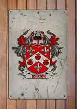 Walsh Coat of Arms A4 Aged Retro 10x8 Metal Sign Aluminium Heraldry