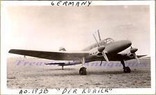 WWII Germany AGO Flugzeugwerke Ao 192B Kurier Courier Transport Airplane Photo