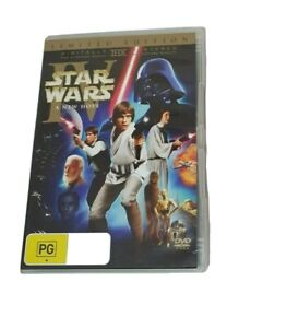 Star Wars Episodes IV A New Hope (1977) Limited Edition DVD - Region 4 Australia