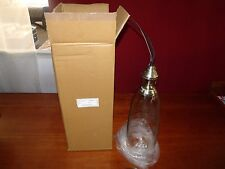"HANGING GLASS LIGHT FIXTURE 6""W x 18""H (CORD 66"") CT1903-PT ***NIB***"