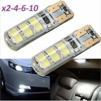 T10 LED Bulbs, Canbus Cob Silica, 12SMD 2835/5630 5W5 DC12V, Car Bulbs