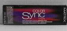 Matrix COLOR SYNC VINYLS Demi-Permanent  Hair Color ~ Black Box ~ 2 fl oz!!