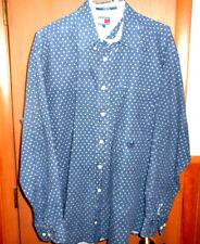 Men's Vintage Tommy Hilfiger 90's Long Sleeved Button Down Blue Shirt Sz L NICE