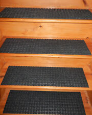 13 Step =  8.3/4'' x 32''  Outdoor Indoor Stair Treads Non-Slip 100% Rubber .