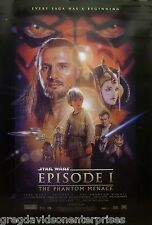 Star Wars 27x40 The Phantom Menace 2 Sided Movie Poster DS One Sheet