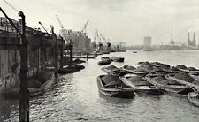 Battersea Power Station barges London 1949  photo view  in 10 x 12 mount SUPERB