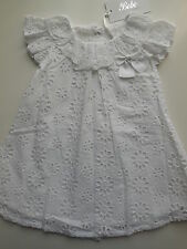 Bebe by Minihaha Baby Girl White Lace Dress Size 00 Fit 6m *