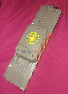 NERF N-Strike Elite 18 Round Dart Magazine Ammo Mag Clip Gray Firefly Light Used