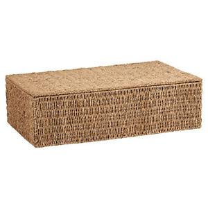 SALE WICKER SEAGRASS UNDER BED STORAGE BOX BEDDING/BLANKET CHEST/TRUNK #763