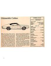 1968 OLDSMOBILE CUTLASS 350/250 HP ~ ORIGINAL SMALLER ROAD TEST / ARTICLE / AD