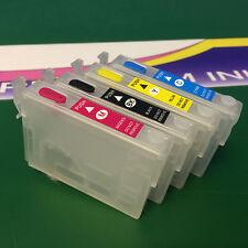 Set Empty Refillable Cartridges Epson XP30 XP102 XP202 XP205 XP212 XP215 XP225