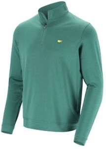 2021 Masters by Peter Millar Men's Green Solid Perth 1/4 Zip Golf Pullover⛳️