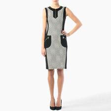 Joseph Ribkoff Black White and Gold Polka Dot Panel Dress size UK10 RRP £275