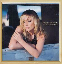"MARTA SANCHEZ ""YA NO TE QUIERO MAS"" RARE PROMO CD SINGLE / CHRISTIAN DE WALDEN"