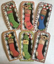 Craft clearout, card toppers x6 /paper die cuts/bundle joblot Christmas Tags 3