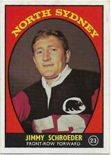 1968 A Nrl Rugby League Scanlens (23) Jimmy SCHROEDER North Sydney ::