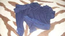 BOUTIQUE ELLA MOSS 3-6 NAVY BLUE RUFFLED TOP PANT SET