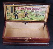 Vintage Elite Tool Chest For Boys Dovetailed Box American Manufacturing Concern