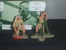King and Country ea22 SECONDA GUERRA MONDIALE 8th Esercito SAS Mortaio TEAM Set Giocattolo Soldato
