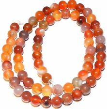 """GR635 Red Agate 6mm Polished Round Gemstone Beads 15"""""""