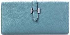 Porte-monnaie et portefeuilles pochettes bleues en cuir pour femme