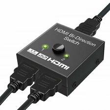 HDMI Bi-directional Switch 3D UHD 4K HDMI Switcher Splitter Hub 1x2 HDCP Female~