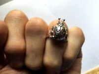 Ladybug Sterling Silver Ring - Sizes 6.5-9 - .925 Pure Silver