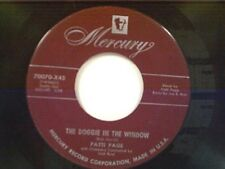 """PATTI PAGE """"THE DOGGIE IN THE WINDOW / MY JEALOUS EYES"""" 45"""