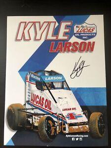 Kyle Larson Signed Lucas Oil Products Sprint Car Handout