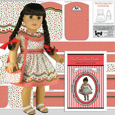 18 in Doll Clothes Kit to Sew Cherry Time Dress & Bag SPECIAL PROMOTION