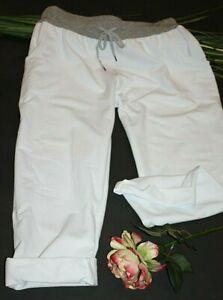 Jogpants Damen Sweathose Weiß 42 44 46 Stretch Hose Stylische Jogging /H 88