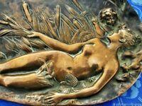 Porte-bijoux ancien plateau plateau bronze France Antique plate tray jewelry sta