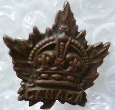 Badge- Vintage Canadian General Service Corps Cap Badge (BRONZE, Genuine*)