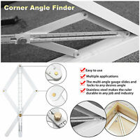 Stainless Steel Corner Angle Finder Ceiling Artifact Tool Square Protractor New