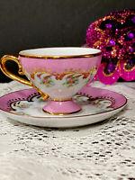 Pedestalled Demitasse Porcelain Cup Saucer Finest Porcelain Past Times England