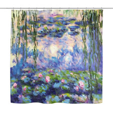 Water Lilies by Claude Monet Decorative Shower Curtain [Custom Made] French Art