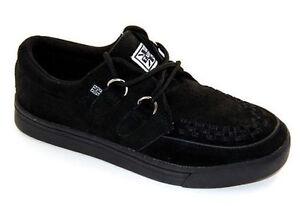 T.U.K A6061 TUK Black Suede 2-Ring Creeper-Sneaker Rockabilly
