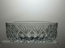 STUART CRYSTAL CUT GLASS FRUIT SALAD SERVING BOWL WITH ORIGINAL BOXED