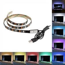 1 Meter 3FT LED Lighting 5V USB Powered LED Strip RGB for Flat Screen TV LCD PC