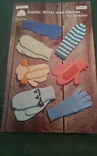 Patons Socks,Mitts and Gloves for Children (vintage knitting patterns)