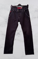 GUESS USA  Men's Dark Grey Straight Leg Designer Denim Jeans Waist 28 Leg 30