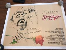 Luciano Pavarotti Yes Giorgio Autographed Movie Poster 1982