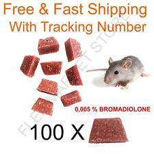 Rattengift 100 x Blöcke professionell Ratten feucht Länder Kostenloser Versand