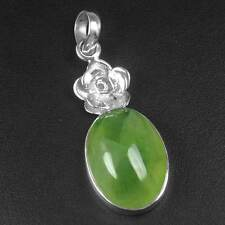 5.31 Gram 925 Sterling Silver Natural Lovely Design Prehnite Pendant Top Jewelry