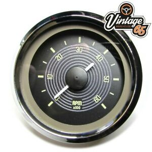 VW Beetle T1 T2 Classic OE Style Retro Black Dial Tacho Gauge Smiths 52mm 12v