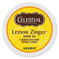 Celestial Seasonings Lemon Zinger Herbal Tea 24 Count Keurig K cup FREE SHIPPING