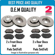 FRONT AND REAR BRKE DISCS AND PADS FOR SUZUKI OEM QUALITY 3080202630881843