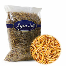 1 kg Mehlwürmer getrocknet Lyra Pet Futter für Fische Nager Vögel Igel Reptilien