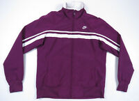 NWOT Nike Sportswear Purple White Spell Out Swoosh Full Zip Womens Track Jacket