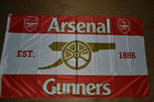 Arsenal Gunners Canon Logo Official Team Knitted FLAG 3 Shields //SHIPS SAME DAY